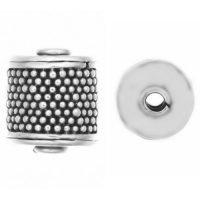 Sterling Silver Ornate Tube Beads 10x8.5mm - B1390