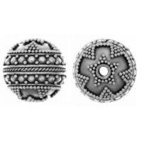 Sterling Silver Fancy Round Beads  14x14.4mm - B1512