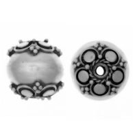 Sterling Silver Fancy Round Beads  11 x 10.6 mm - B1535