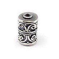 Sterling Silver Fancy Tube Beads  10.3x 7mm - B1543