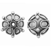 Sterling Silver Saucer Small Beads  8.7x9.3mm - B1544
