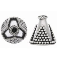 Sterling Silver Cones 12.6x12.5mm - CAP015