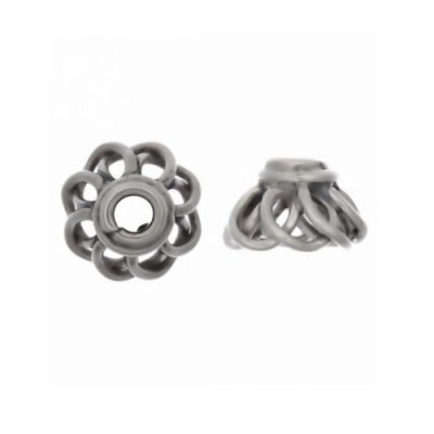 Sterling Silver  Bead Caps 4.6x8mm - CAP035
