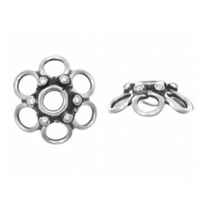 Sterling Silver  Bead Caps  3.5 x 9.6 mm - CAP041
