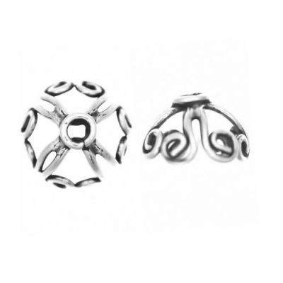 Sterling Silver  Bead Caps  6.2 x 9 mm - CAP049