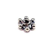 Sterling Silver Bead Caps 2.5x6 mm - CAP108