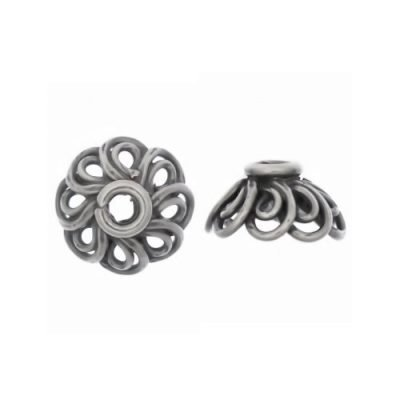 Sterling Silver  Swirl Bead Caps