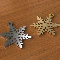 Sterling Silver snowflake charm 24x18mm - CH020