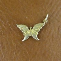 Sterling Silver Butterfly Charm 14x7.5mm - CH079