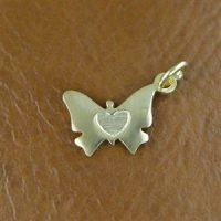 CH084- Sterling Silver Butterfly Charm 14.8x10.8mm - CH084