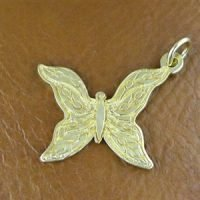 CH086- Sterling Silver Butterfly Charm 21.5x16.4mm - CH086