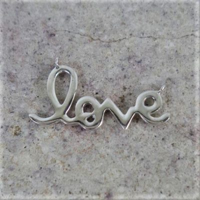 Sterling Silver Tag with Heart Cutout  - CH100