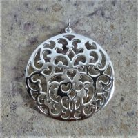 Sterling Silver Charm Round Charm - CH101