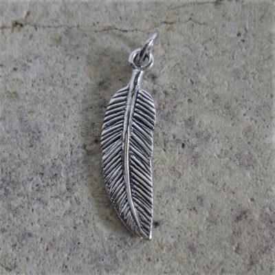Sterling Silver Feather Charm - CH102