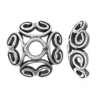 Sterling Silver Bead Caps 4.3x12mm - R489