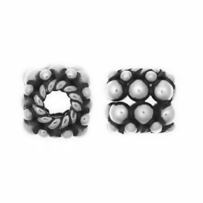 Sterling Silver Barrel Small Beads  4.7x5.7 mm - S5031