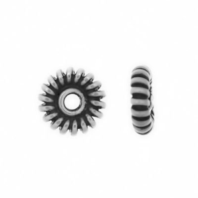 Sterling Silver Daisy Flat Spacers 1.5x5mm - S5034