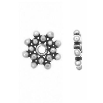 Sterling Silver Daisy Flat Spacers