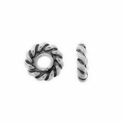Sterling Silver Daisy Flat Spacers 4.7x1.2mm - S5066