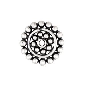 Sterling Silver Large Daisy Flat Spacers