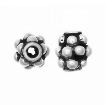 Sterling Silver Barrel Small Beads  7x6.5mm - S5106