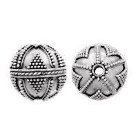 Sterling Silver Fancy Round Beads  14x13.5mm - B1116
