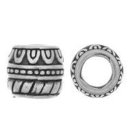 Sterling Silver Ornate Tube Beads  8x8.5mm - B1630