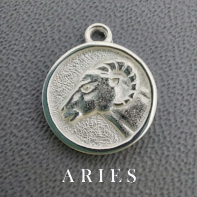 sterling silver aries zodiac pendant charm