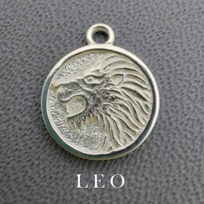 sterling silver leo zodiac pendant charm