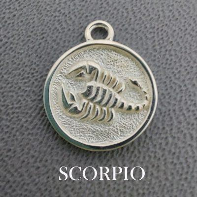 sterling silver scorpio zodiac pendant charm