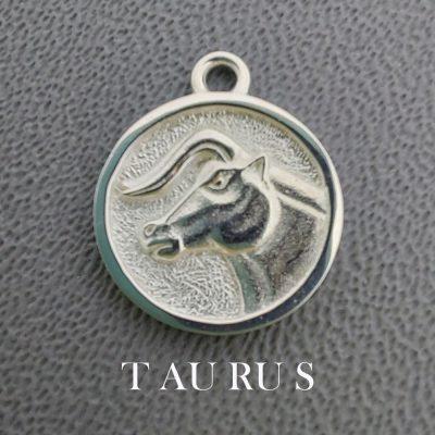 sterling silver taurus zodiac pendant charm