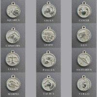 sterling silver zodiac pendant charm