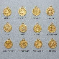 silver zodiac pendant charm