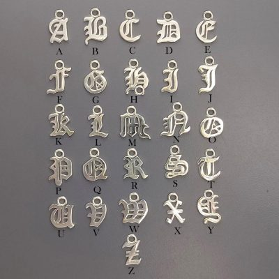 Sterling Silver Letter Charm 8mm - CH114