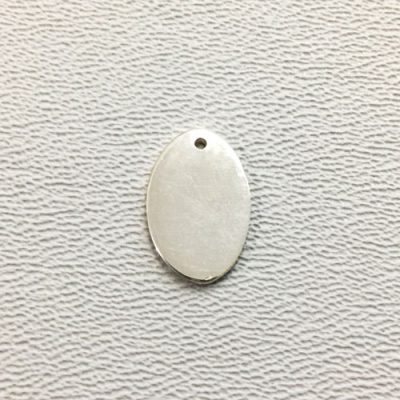 Sterling Silver Blank Oval