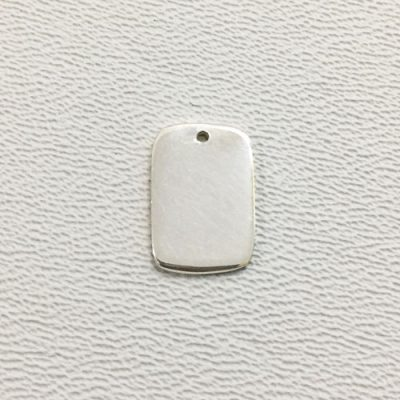 Sterling Silver Blank Rectangle