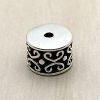 Sterling Silver Ornate Tube Beads - B1656