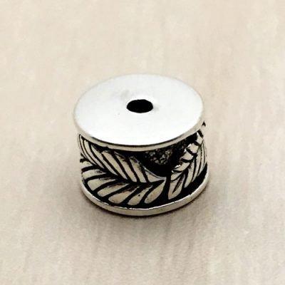 Sterling Silver Ornate Tube Beads - B1660