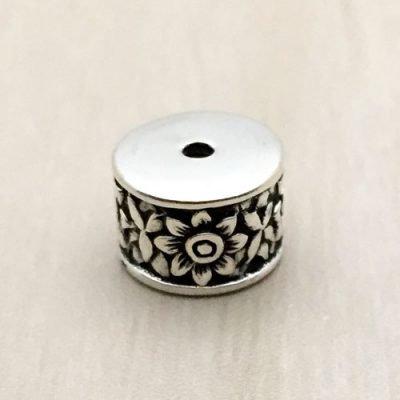 Sterling Silver Ornate Tube Beads - B1662