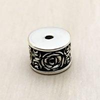Sterling Silver Ornate Tube Beads - B1664