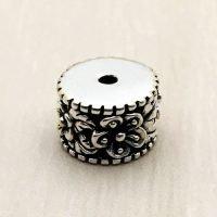 Sterling Silver Ornate Tube Beads - B1665