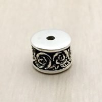 Sterling Silver Ornate Tube Beads - B1666