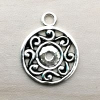 Sterling Silver Round Charm – CH128