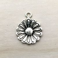 Sterling Silver Flower Charms - CH132