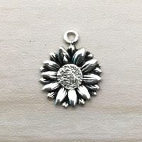 Sterling Silver Flower Charms - CH133