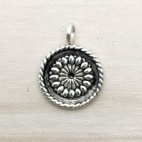 Sterling Silver Round Charm – CH135