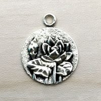 Sterling Silver Lotus Charm – CH136