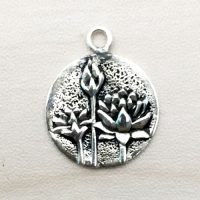 Sterling Silver Lotus Charm – CH137