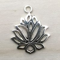 Sterling Silver Lotus Charm – CH138