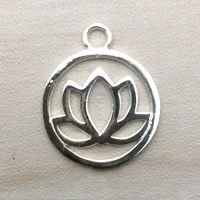 Sterling Silver Lotus Charm – CH139